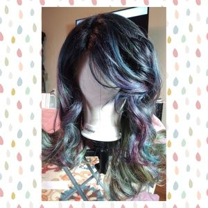 Rainbow Oil Slick Lace Front Wig